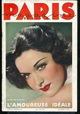 PARIS MAGAZINE December 1936 Spicy Sexy French Pin-Up Girlie ART DECO Nudes vv