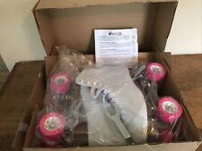 Chicago Women's Classic 400 Roller Skates Premium White w/Pink Quad Rink Size 9