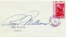 ROGER WILLIAMS PIANIST SIGNED ENVELOPE 1956