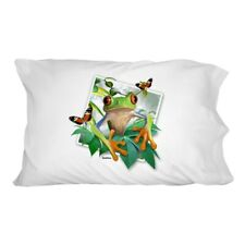 Tree Frog Selfie Picture Rainforest Novelty Bedding Pillowcase