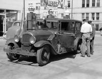 "1940 Gas Station, Sturgeon Bay, Wisconsin  Old Photo 8.5"" x 11"" Reprint"