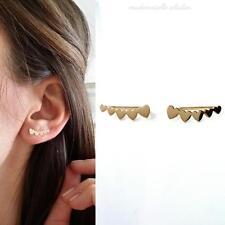 EAR CUFF, BOUCLES D'OREILLES MONTANTES, CONTOURS DE LOBES PLAQUE OR 750