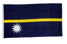 Nauru Flag 5 x 3 FT - 100% Polyester With Eyelets - Commonwealth Games