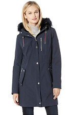 Tommy Hilfiger Softshell Navy Anorak w/ Faux Fur Hood 3870 Size Small