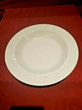 Wedgwood Embossed Queens ware cream on cream smooth edge soup