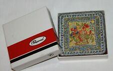 Vtg Pimpernel Traditional Box 6 Cork Coasters Blue Mosaic Tile Print England-G3