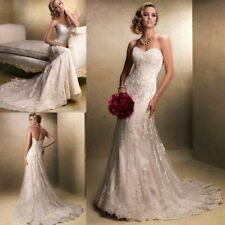 Robe de mariée neuve sirène :  coloris blanc Taille 40/42 - LIVRABLE DE SUITE