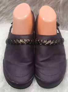 Orthaheel Kerstin Purple Orthotic Mules Clogs Slingback Slides Shoes Womens Sz 7
