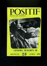 Cinéma revue POSITIF 28/1958 Ciné italien Visconti Fellini Les coupables...