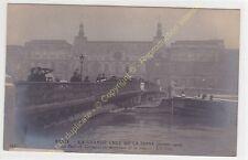 CPA 75007 PARIS Crue maxi Seine 1910 Pont du Carrousel animé Edit ND ca1910