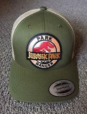 NEW! Jurassic Park Ranger Hat Trucker Style SnapBack Cap with Embroidered Patch