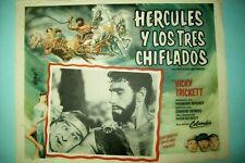 The Three Stooges Meet Hercules (1962) - Original Mexican Lobby Card in Spanish