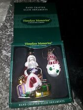 Hand crafted glass christmas ornaments in box by timeless memories