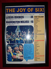 Leeds Rhinos 26 Warrington Wolves 18 - 2012 Grand Final - framed print