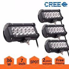 "4PCS 7"" 36W CREE Led Work Driving Light Bar Spot Offroad Truck Atv JEEP CAR US"