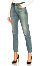 Citizens of Humanity Liya High Rise Classic Slim Cropped Studded Straight Jeans
