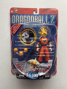 Dragon Ball Z Irwin Toys Cell Games Saga SS Goku Action Figure Silver Card READ