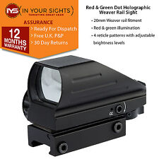 Red & green dot holographic sight / Weaver rail Airsoft or rifle reflex sight