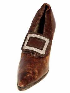 Victorian Shoe Single Pilgrim Vamp Louis Heel 1900 For Design Collection