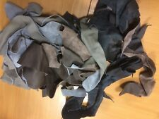 5 pound Scrap Leather Pieces Upholstery Cow Hide, Mixed Colors and Weights (4)