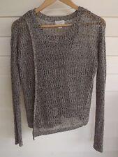 Witchery Women's Black & Off-White Sparkle Knit Long-Sleeve Jumper - Size S