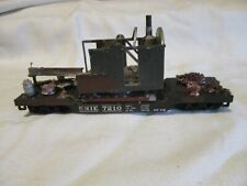 1Marx All Metal Erie Flatcar With A Old Metal Crane In Need Of Repair As Load,