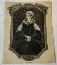 1877 magazine engraving ~ LADY JANE GREY