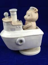vintage sailor music box made in Taiwan Anchors Aweigh teddy bear sailor musical