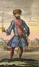 Blackbeard the Pirate 1724 7x5 cm reproduction impression artistique