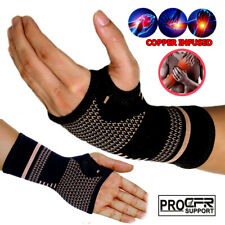 Copper Wrist Support Brace Splint Fit for Carpal tunnel Arthritis Sprain Strain