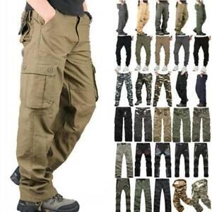 Men's Tactical Cargo Pants Work Outdoor Sport Hiking Trekking Trouser Sweatpants