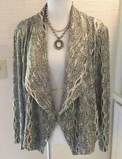 Chico's Jacket, Size 3, XL, Metallic Gold, Open Drape Style, NWT