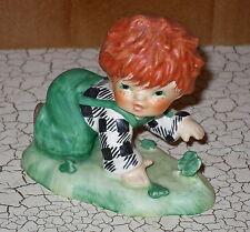 Goebel Charlot Byj Lucky Day Red Heads Figurine Western Germany 4 Leaf Clover