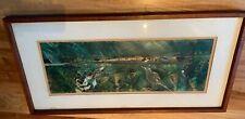 Howard Bradford Vintage Signed Serigraph Print Spring Sea 1959 Large Framed