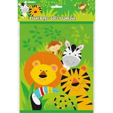 8 Jungle Loot Bags Favors Candy Lion Monkey Animals Birthday Party Safari Zoo