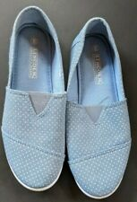 LINCOLN OUTFITTERS Blue Polka Dot Boat Shoes WOMENS Sz 8
