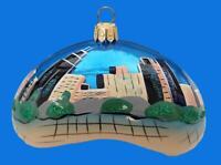 CHICAGO SEATTLE FL VA SUITCASE LUGGAGE EUROPEAN GLASS CHRISTMAS ORNAMENT