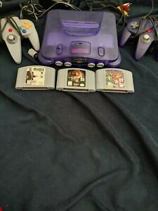 Nintendo 64 With 3 Games