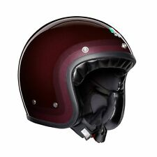 CASCO JET VINTAGE AGV X70 MULTI TROFEO PURPLE RED TAGLIA M/S