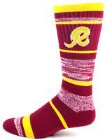 Washington Redskins Football Throwback Maroon Gold RMC Striped Crew Socks