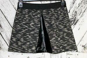Womens Victorias Secret Black & White Knit Short Skirt With Faux Leather Sz S