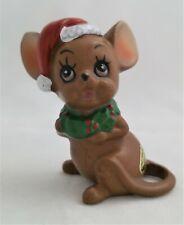 Vintage Josef Originals Christmas Mouse Porcelain Figurine Made In Japan Cute