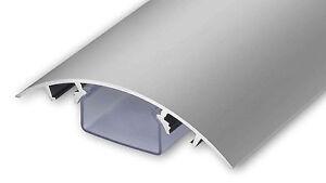 Aluminium Design TV Kabelkanal in silbermatt eloxiert Kabelschacht für Kabel