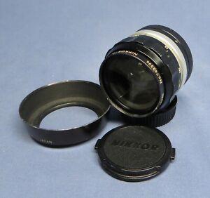 Vintage Nikon Nikkor-O 35mm f/2 Non Ai Lens wSunshade for Nikon Mount EXC