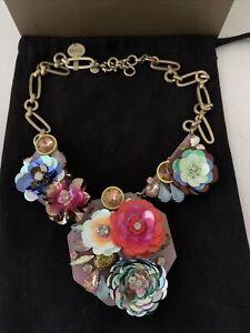 J Crew Flower Brulee Necklace