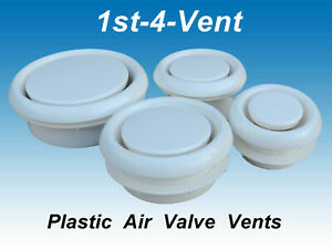 CIRCULAR PLASTIC AIR VALVE for Extractor Fans, Ducting, Ceiling Grille Vent