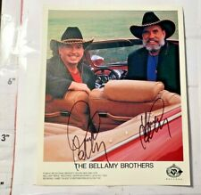 Country Music Stars The Bellamy Brothers Autographs Color 8x10 Original