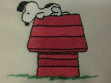 Personalized Embroidery Fleece Baby Blanket With Snoopy