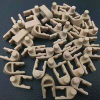 100 Knex Tan Interlocking End Clips - K'nex Specialty Parts & Pieces