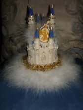 Castle cake topper Quinceanera XV/Sweet 16 center piece with gold Cinderella